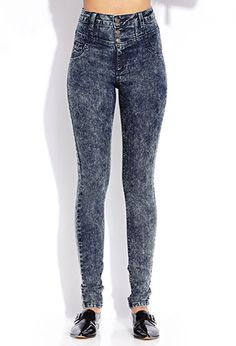 Must-Have Acid Wash High-Waisted Jeans