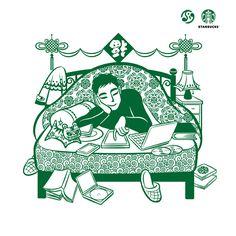 查看《星巴克2013新年海报插画(继续往下续。。。)》原图,原图尺寸:750x750 Flyer And Poster Design, Graphic Design Posters, Graphic Prints, Graphic Art, New Year Illustration, Chinese Festival, New Years Poster, Asian Design, Japanese Graphic Design