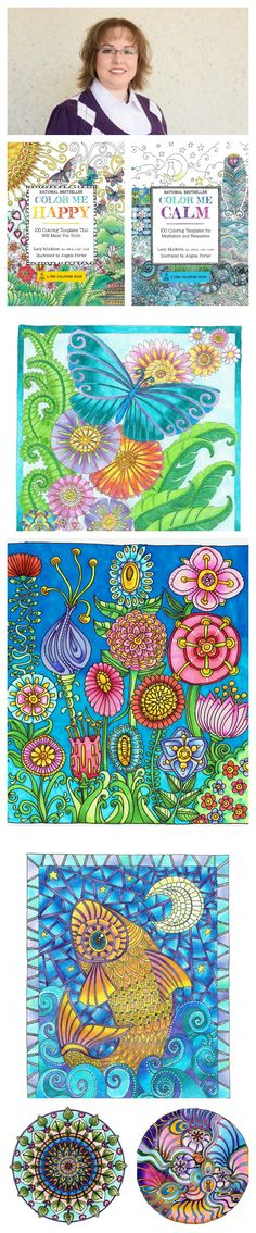 Adult coloring book author and art therapist Lacy Mucklow talks to us about the benefits of coloring books. | National Adult Coloring Book Day | Free Printables