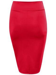 ba0e5a07c34 Womens Plus Size Pencil Skirts High Waisted Scuba Bodycon Midi Office Skirt  USA
