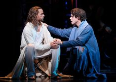 Paul Nolan as Jesus and Josh Young as Judas in JCS