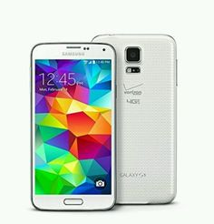 Samsung Galaxy S5 Cell White Phone Verizon 4G LTE 16GB Android Smartphone #Samsung #Bar