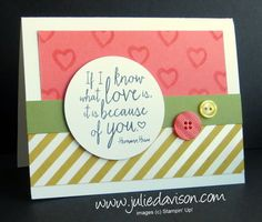 Stampin' Up! Build a Bouquet + Sale-a-bration 2015 Irresistibly Yours Designer Paper #occasions #stampinup www.juliedavison.com