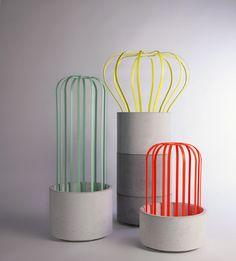 Studio Joa Herrenknecht - TORO - Modular flower pots for flowers and climbing plants Salone Satellite, Milan 2013 - joa-herrenknecht.com