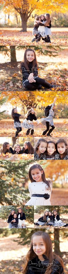 Sisters , sibling pose ideas, outdoor family photos, foliage portraits, fall family picture, autumn family photo © Dimery Photography 2014