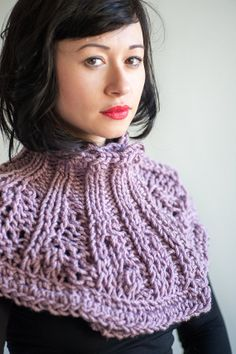 Purple Victorian inspired knitted scarflette by Julbyjuliagasin, $59.00