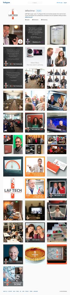 Check out our Instagram Page for our Humor-based training and event company, LAF Tech NW!