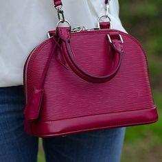 New Bag Post - My New @LouisVuitton Alma BB in Fuchsia Epi Leather http://raindropsofsapphire.com/2015/04/28/louis-vuitton-alma-bb-epi-leat