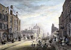 A View Towards Hanover Square from Holles Street London, 1775, - James Miller