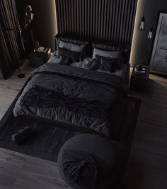 How to Begin Your Interior Design Career Black Bedroom Design, Luxury Bedroom Design, Home Room Design, Master Bedroom Design, Bed Design, Home Decor Bedroom, Black Bedroom Decor, Bedroom Ideas, Bedroom Makeovers