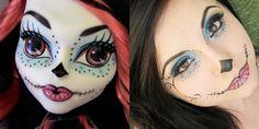 Monster High Skelita makeup look http://wp.me/p3dkBA-1kK @AmriasBlog Perfect for Halloowen