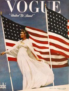 Patriotic cover - Vogue, July 1, 1942.