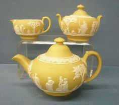 A fancy tea set with just the right amount of whimsy. Antique Wedgwood Tea Set