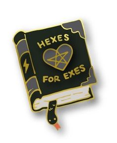 Hexes for Exes Spell Book Enamel Pin. Love it!