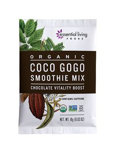 Bursting with superfood energy and nutrition, this mix will help keep you going strong and focused. It's full of delicious chocolate flavor enhanced with fiber, complex carbs, minerals, and whole-seed guarana. Hot or cold, this elixir makes for a great alternative to coffee.