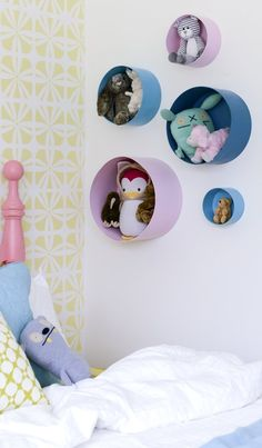 DIY Stuffed Animal Storage. Try this clever solution to manage your child's favorite stuffed animals.