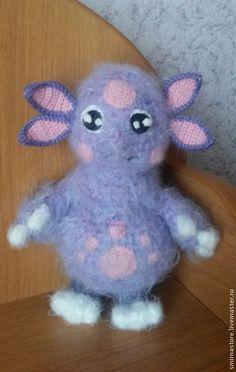 Купить Лунтик - сиреневый, лунтик, игрушка ручной работы, игрушка, игрушка для детей, игрушка в подарок