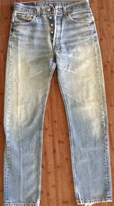 Levi's 501 Button Fly blue jeans Size 31x34