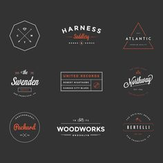 Hipster Vintage Logo Pack, some nice shapes, borders etc