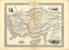 J F Tallis Antique Map 1851 Asia Minor | eBay