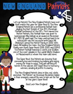 Super Bowl 51 Team Reading Passages, Response Worksheets, & Writing Prompts