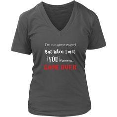 Game Over - Women's Short Sleeve V-Neck T-Shirt