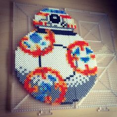 BB-8 Star Wars:The Force Awakens hama perler beads by smargetts