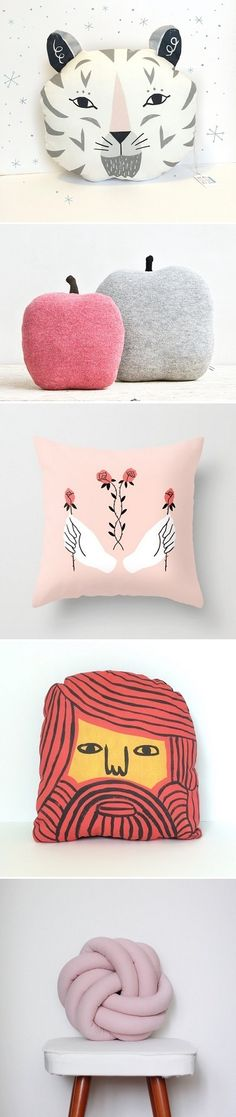 My Favorite Illustrated Pillows / On the Blog!