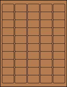 """1"""" x 1.5"""" Rectangular Brown Kraft label sheets from #www.KraftOutlet.com $.79 per sheet"""