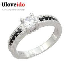 Find More Rings Information about Uloveido 50% off Crystal Cubic Zirconia Female Black Ring Jewelry Wholesale Christmas Wedding Gifts Anillos Size 5 10 PJ001,High Quality gift grandparents,China gifts ads Suppliers, Cheap gift bags for weddings from Uloveido Official Store on Aliexpress.com