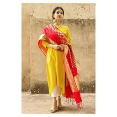 Ethnic wear yellow and red # Indian Ethnic wear yellow an Indian Attire, Indian Ethnic Wear, Indian Outfits, Red Indian, Indian Clothes, Indian Dresses, Ethnic Fashion, Indian Fashion, Woman Fashion