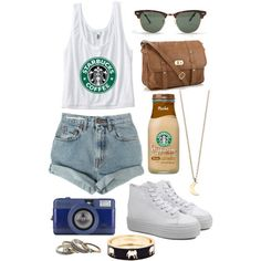 I like the outfit but not the shoes #starbucks please #repin