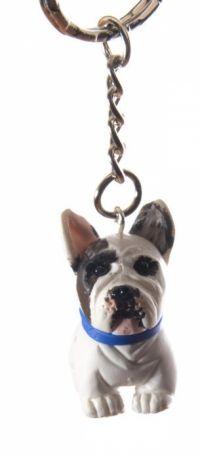 Franse Bulldog sleutelhanger
