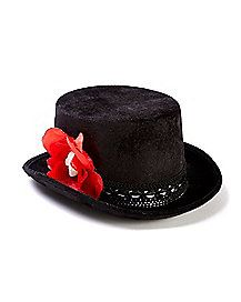 1c99fbf2a98 SPANISH ZORRO PERMAFELT HAT. Day of the Dead Top Hat