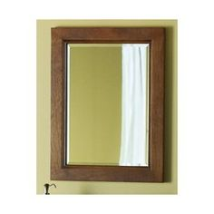 allen   roth 26-in H x 20-in W Burbank Sable Rectangular Bathroom Mirror