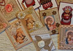 Ulla's Quilt World: Quilted romantic vintage cards