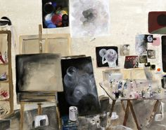 "Saatchi Art Artist Paula Baader; Painting, ""paulas workplace"" #art"
