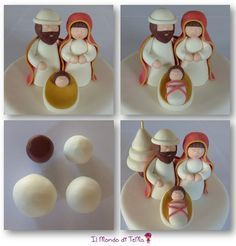 If you would like to be an expert at cake decorating, then you'll require practice and training. As soon as you've mastered cake decorating, you might become famous from the cake manufacturing business. Clay Christmas Decorations, Christmas Cake Designs, Polymer Clay Christmas, Xmas Ornaments, Christmas Projects, Nativity Crafts, Christmas Nativity, Noel Christmas, Polymer Clay Ornaments