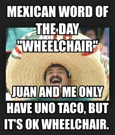 Mexican word of the day: Wheelchair
