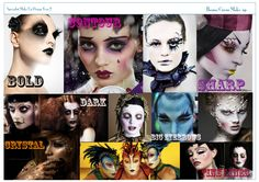 circus make-up mood board- prep for the final shoot!
