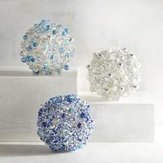 Create unique centerpieces and tablescapes with our handcrafted, decorative spheres with beading. Mix and match, fill bowls or clear glass vases and enjoy.