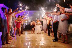 fireworks celebrating the bride and groom, destination wedding photography, melissa-mercado.com