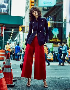 awesome Iana Godnia hits the New York streets for TELVA December 2015 by Tomás de la Fuente [fashion]