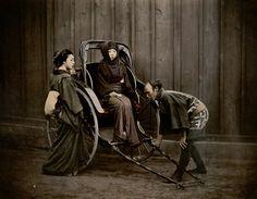 "songesoleil:  ""Jinrikishia"" Studio Shin-e-Do (Kobe, Japan) Photography. 19th century."
