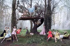 Daria Strokous & Katlin Aas by Inez van Lamsweerde & Vinoodh Matadin for Dior Secret Garden 2 Campaign 2013 1