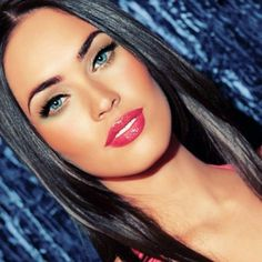 Megan Fox makeup. I wish I had her lips :/ and I love her eye brows!