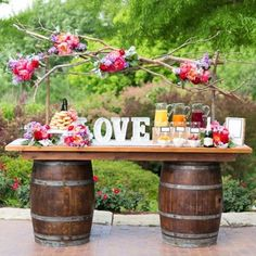 Idea for the whiskey barrel table