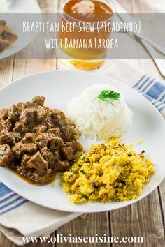 Brazilian Beef Stew (Picadinho) with Banana Farofa   www.oliviascuisine.com