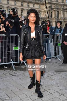 India Moore attends the Louis Vuitton Womenswear Spring/Summer 2020 show as part of Paris Fashion Week on October 2019 in Paris, France. Paris Fashion, Women Wear, Spring Summer, Louis Vuitton, Punk, India, Street Style, Image, Goa India