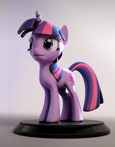 Twilight Sparkle figurine by ~3Dapple.... My little pony is cool... Come at me bro! :P